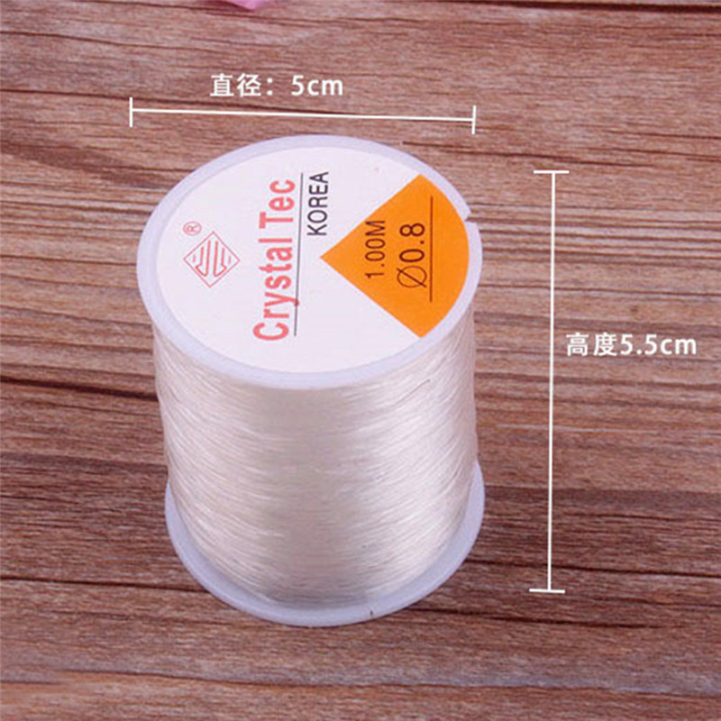 0 8mm Transparent Stretch Elastic Crystal Line Beading Rope String Cord String Thread DIY Handmade Bracelet Necklace Accessories in Thread from Home Garden