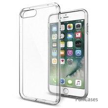 Ультра тонкий мягкий ТПУ прозрачный чехол для iPhone 5 5S SE 6 6S Plus 7 Plus 8 X прозрачный силиконовый задняя крышка телефонные чехлы в виде ракушки