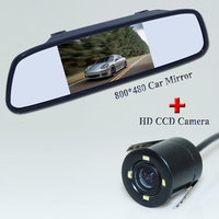 Car RearView Camera HD Video Parking 4 LED Night Vision CCD Waterproof 4 3 TFT Rearview