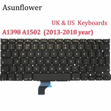 цены Asunflower Laptop Keyboard For A1398 MacBook 13 15 Inch Pro With Retina A1502 A1398 For Apple MacBook Pro 15 Keyboards 2013 2015