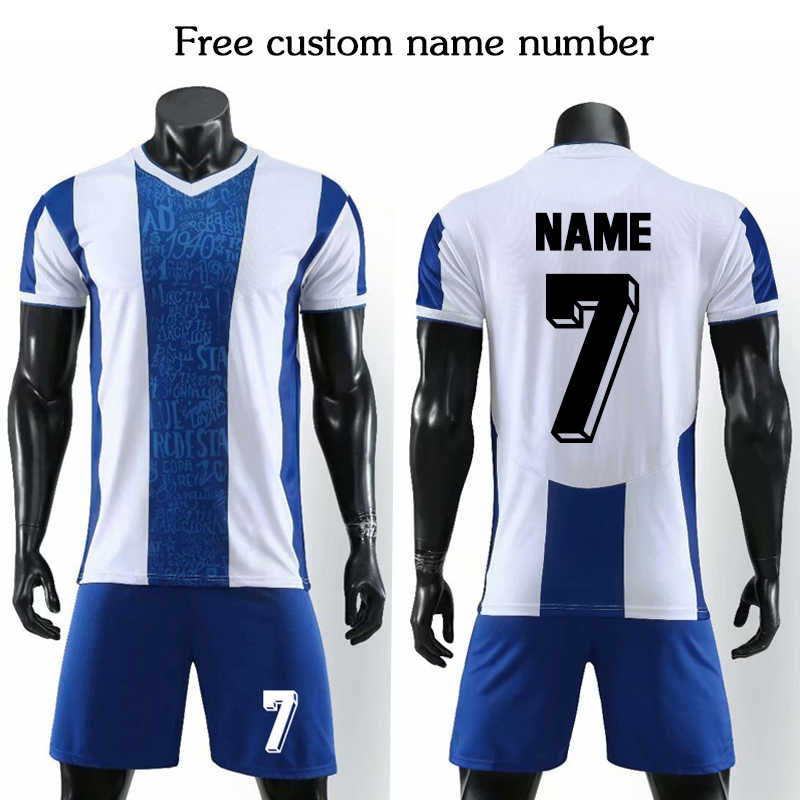 2019 Football Team Free Custom Name (No Badge) football uniform kits Soccer Jerseys Men Kids Soccer Sets Customize name number