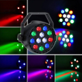 TSLEEN PROFESSIONAL 6Pcs AMP DMX512 12W LED STAGE LIGHTS PARTY SHOW LIGHTING STROBOSCOPE LASER EFFECTS RAINBOW COLOR US/EU PLUG