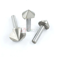 90 6pcs/set 90 degree set chamfering cutter three-edge chamfering drill reaming round hole trimmer countersunk head (3)