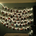 Luzes Da Corda LED 2016 1.2 M 10 LEDs 3 * AA Bateria Ambiente Foto Cartão Clipe de Natal Iluminação para Interior Decoração do quarto