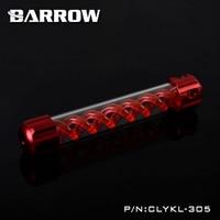 Barrow Aluminum Red VIRUS T Cylinder Water Reservoir Water Tank 305mm Computer Water Cooling UV Lighting