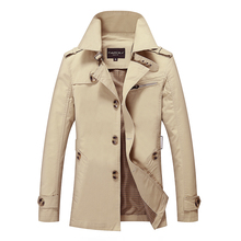 Customize Top Quality British Slim double breasted mens long trench coat Europe trenchcoat jacket male coat  free shipping