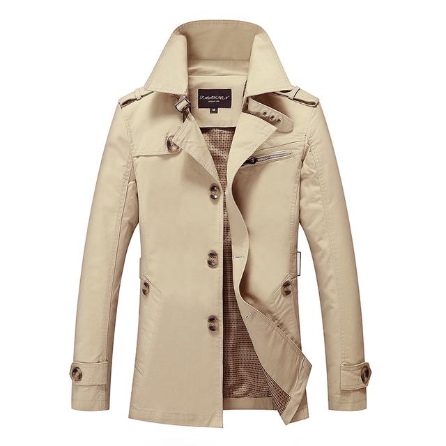 Personalizar Alta Calidad Británica Delgado para hombre de doble botonadura larga trinchera abrigo Europa gabardina chaqueta de abrigo masculino envío gratis