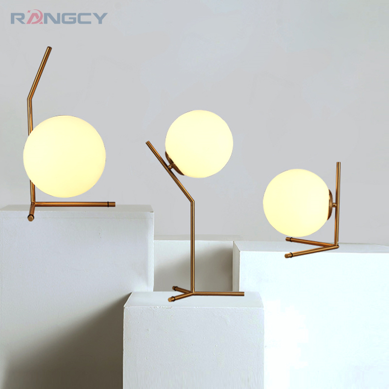 Modern LED Table Lamp Desk Lamp Light Shade Glass Ball Table Lamp Desk Light for Bedroom Living Room Floor Bedside Gold Designs fumat stained glass table lamp high quality goddess lamp art collect creative home docor table lamp living room light fixtures