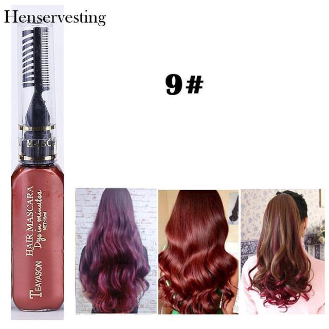 13 צבעים זמני צבע לשיער קרם רעיל DIY שיער צבע אחד זמן קרם Para Cabelo שיער שעווה כחול אפור סגול