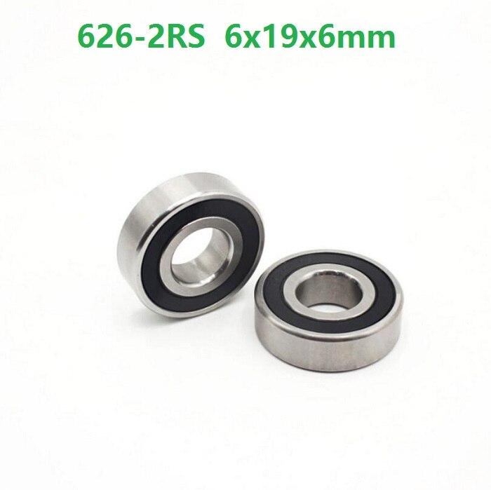 100 ชิ้น/ล็อต 626RS 626 2RS 626 ฿ 2RS แบริ่งแบริ่ง 6*19*6 มิลลิเมตร Deep Groove Ball bearing 6x19x6 มิลลิเมตร-ใน เพลา จาก การปรับปรุงบ้าน บน AliExpress - 11.11_สิบเอ็ด สิบเอ็ดวันคนโสด 1