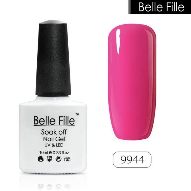 Belle Fille UV Nail Gel Rose Pink Purple Gel Nail Lacquer Soak Off Varnish
