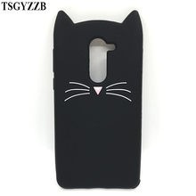 Beard Cat Back Cover For Huawei Honor 6X Silicone Case 5.5 3D Cartoon Soft Phone Funda GR5 2017 Mate 9 Lite