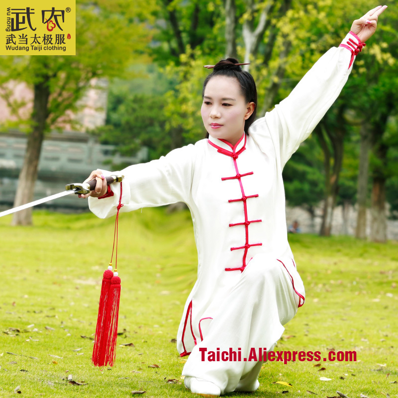 Wudang  Men & Women Handmade  Linen Tai Chi Uniform Wushu Kung Fu Shaolin Training Suit