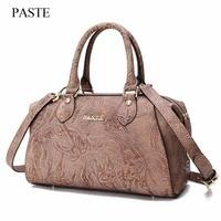2017 New Fashion Brand Top Handle Bags Luxury Top Women Genuine Leather Shoulder Bag Charm Ladies