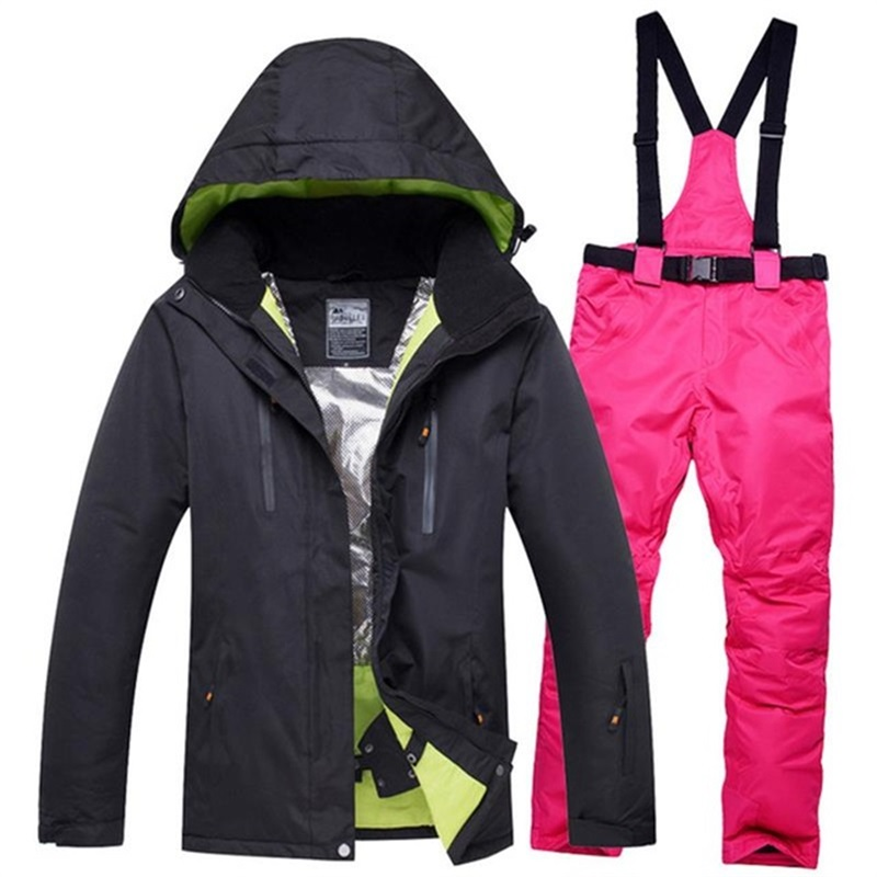 Womens ski suit set winter female skiing jackets and pants outdoor snow sportswear women snowboard suits clothing waterproofWomens ski suit set winter female skiing jackets and pants outdoor snow sportswear women snowboard suits clothing waterproof
