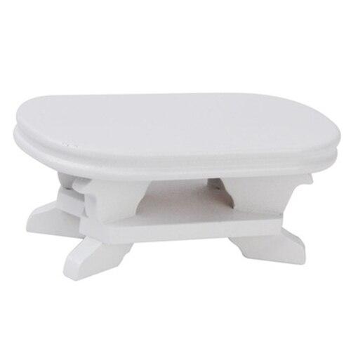 Abwe Best продажи 1:12 Кукольный Миниатюрный Мебель Кофе Таблица белый 9.5*5*4 см