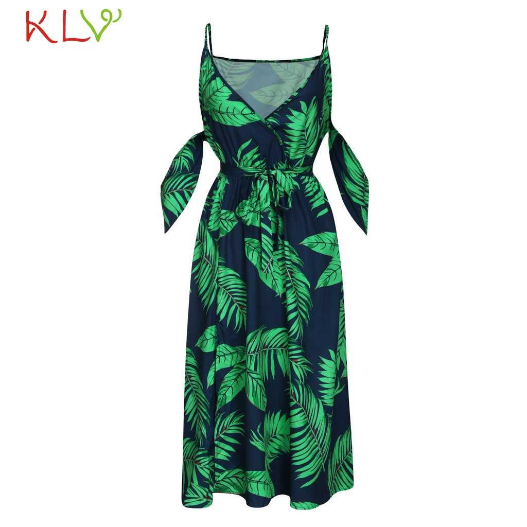 Женское платье в стиле бохо с открытыми плечами, повседневное Элегантное летнее длинное платье, сексуальные вечерние платья 2019 размера плюс, женское платье 19Apr17