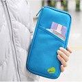 Chegam novas Estilo Coreano Carteira Travelus Passaporte Poliéster Multifunções Pacote de Cartão de Crédito ID Titular Saco de Armazenamento de Viagem