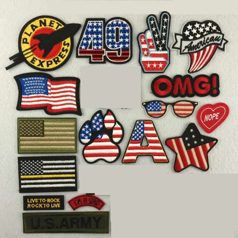 National Flag Repair The Hole Badge Patch Embroidered Patches For Clothing Iron On For Close Shoes Bags Badges Embroidery DIY