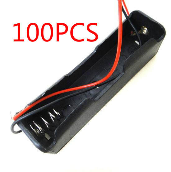 100 Pcs Small Box Plastic Shell Battery 1x18650 3.7V Case Holder Case Storage Clip Black With Wire|Battery Storage Boxes| - AliExpress