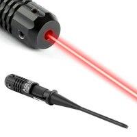 Lekkie i Wytrzymałe CZERWONA Kropka Kolimator Laser Bore Próbnych Boresighter Kit dla 0.22 do 0.50 Polowanie Karabin Kalibru