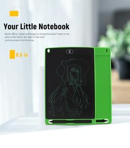 Image 4 - لوح للكتابة اليدوية بشاشة إل سي دي 8.5 بوصة لوحة رسم LCD للأطفال لوحة إلكترونية مرسومة يدويًا لوحة طاقة خفيفة السبورة