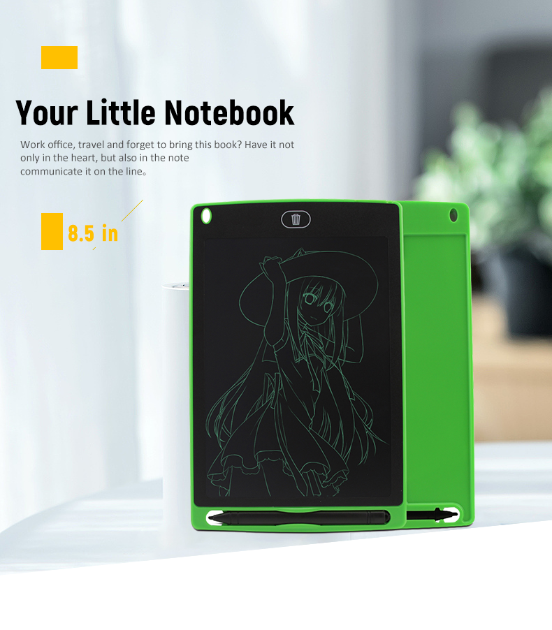Image 4 - 8.5 inch LCD Handwriting Board Highlight LCD Children's Drawing Board Electronic Hand drawn Plate Light Energy Blackboard-in Digital Tablets from Computer & Office