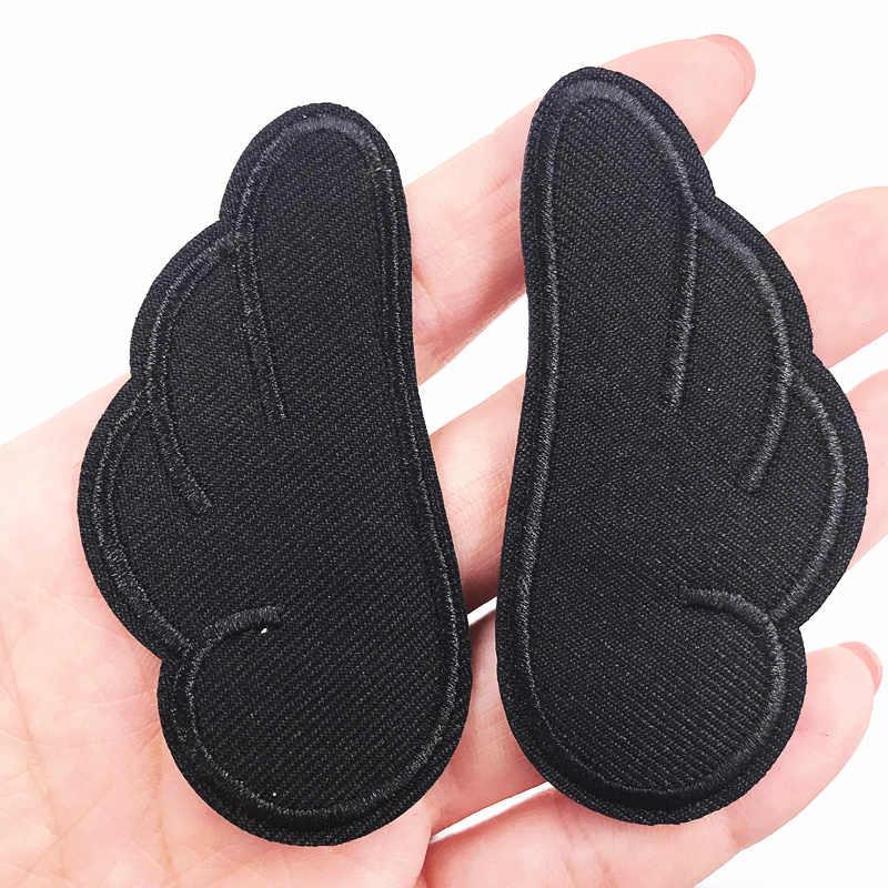1 par Pequenas Asas Roupas de Patch Bordado Ferro em Apliques De Costura para Crianças Roupas jaqueta mans Sapatos Mochila Remendo Adesivos