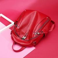 2019 women backpack female real leather natural bag genuine leather shoulder bags travel backpacks lady girl mochila feminina