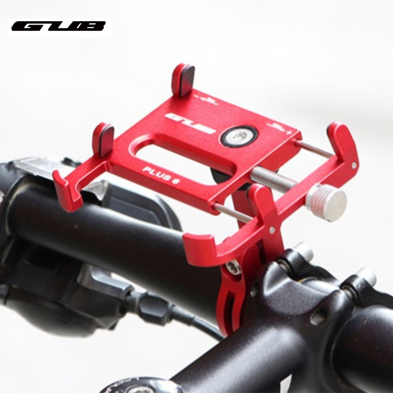 Aluminum mtb road mountain bike motorcycle bicycle phone holder motorbike cell mobile phone stand mount for 3.5-7 inch phone image