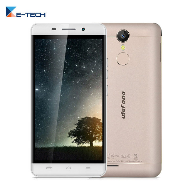 Original Ulefone Metal Smartphone MTK6753 Octa Core 5.0 Inch 1280x720 FHD Screen 3GB RAM 16GB ROM 13MP Fingerprint Cell Phone
