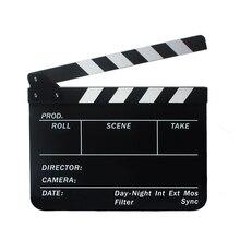 Original Seca Apagar do Diretor Ripa Cortar a Cena de Ação do Filme do filme Clapper Board Slate com Varas de Preto + Branco Livre grátis