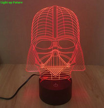 2016 new Touch Switch Colorful Darth Vader 3D LED Night Light Visual Illusion Gradient Acrylic Atmosphere Lamp N1280