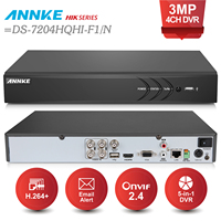 ANNKE 4CH 3MP 5in1 HD TVI CVI AHD Security DVR Recorder H 264 Digital Video Recorder