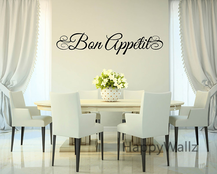 Aliexpresscom Buy Bon Appetite Wall Quote Wall Sticker DIY Bon - Dining room vinyl wall quotes