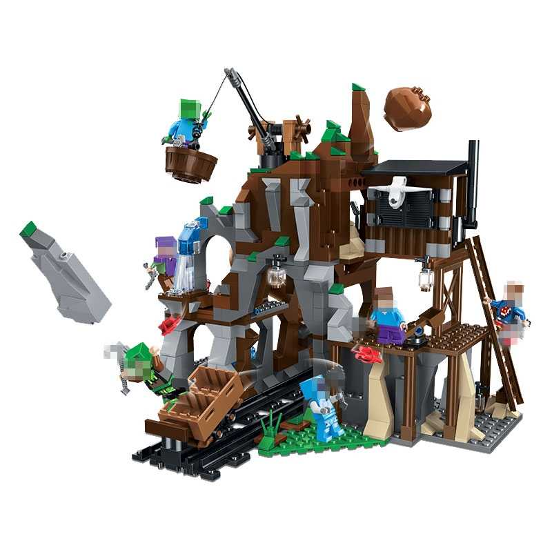 Minecrafted Blocos 33099 Mina de Escavação Tesouro 672Pcs Blocos de Construção do Modelo Brinquedos para As Crianças Montar Figuras Minecraft