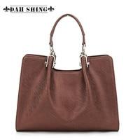 2015 FASHION Vintage Style Women S Grain Leather Handbag Ladies Tote Cowhide Messenger Bag 2 Sizes