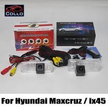 For Hyundai Maxcruz / ix45 / 2 In 1 Collision Avoidance Active Safety System / Car Laser Rear Fog Lamp + CCD Rear View Camera