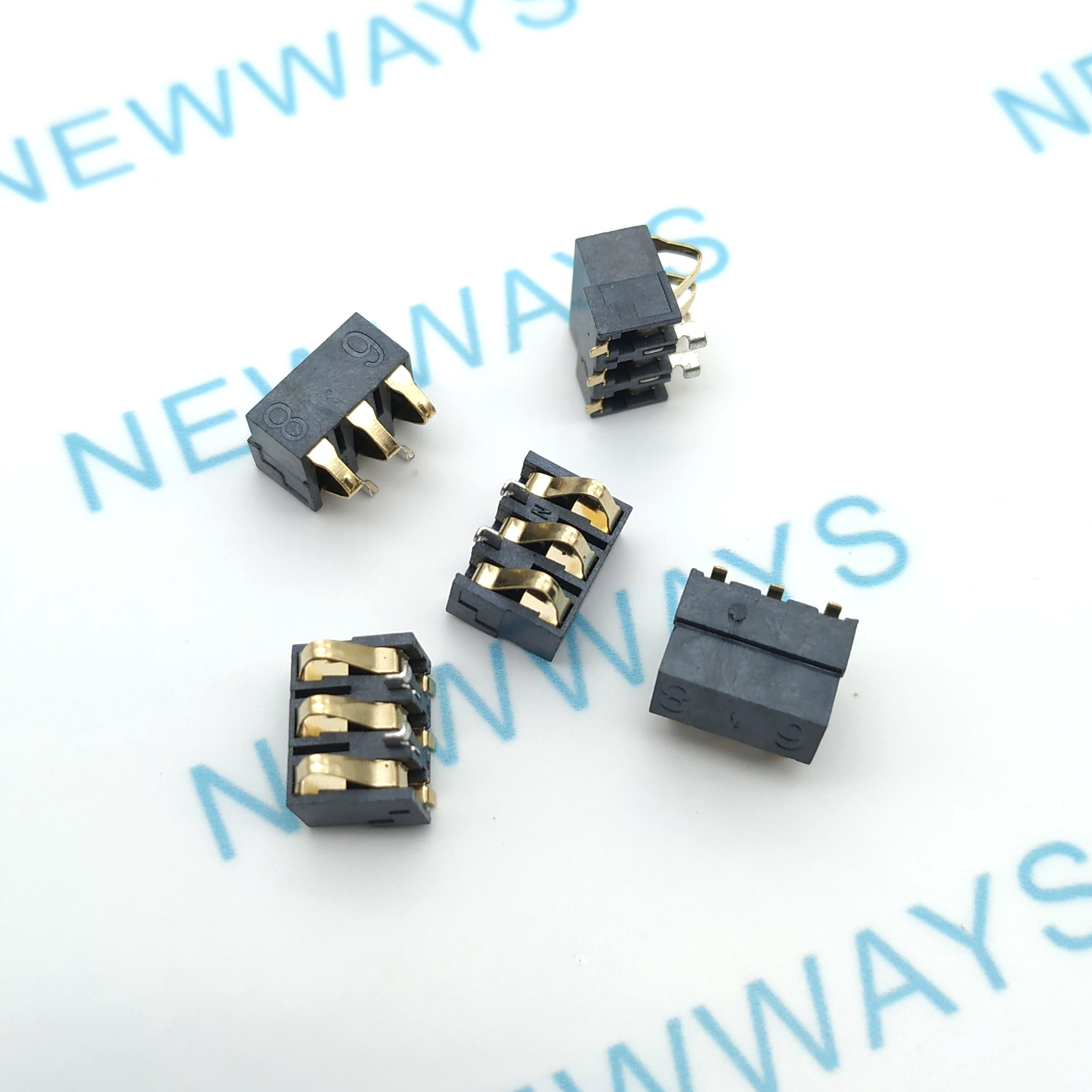 10pcs/lot 68 battery holder 3p shrapnel type battery connector Mobile phone battery contact plate height of 6.8mm free shipping10pcs/lot 68 battery holder 3p shrapnel type battery connector Mobile phone battery contact plate height of 6.8mm free shipping