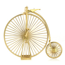 High Wheel 3D Metal Puzzle For Children Brain Game Puzzle Educational Toys Big Small Wheels Bicycle Model Toys For Boy
