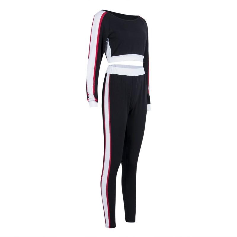 2Pcs Casual Suits Women's Tracksuit Hoodies Sweatshirt Pants Sets Sport Wear