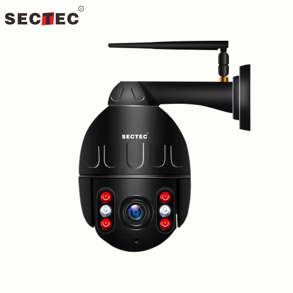 SECTEC IP Camera WiFi 1080P Wireless Metal PTZ Speed Dome IR Onvif Camera Outdoor CCTV Security