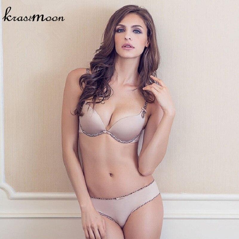NEW 2018 Top Quality 100% Cotton   Bra   &   brief     Set   Women   Bra     Set   Underwear Sexy VS Push Up   Set     Bra   and Leopard Lingerie BS188