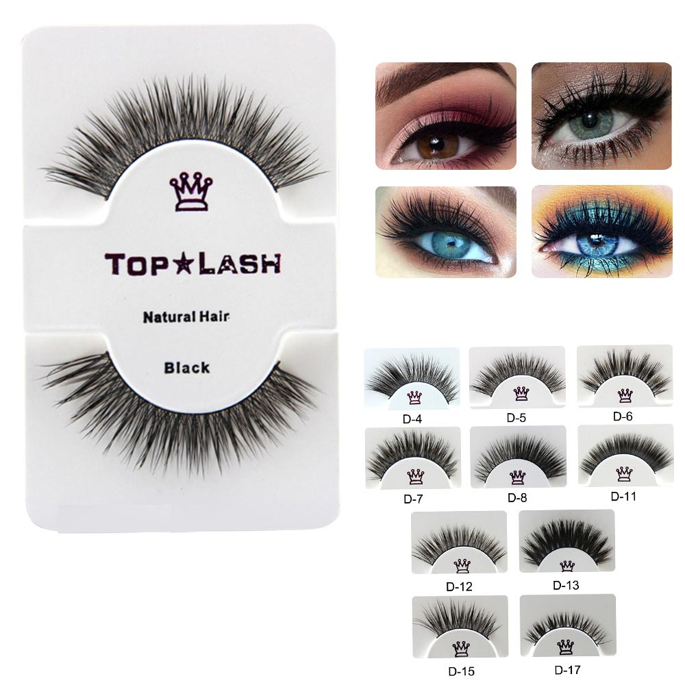 Clearance Cotton Stems Handmade Mink False Eyelashes Building Natural Hair Thick Soft False Eyelashes Extention Patches Wimpers