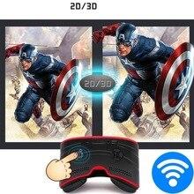 Все в одном гарнитура 3D VR коробка Android Allwinner A33 1 ГБ + 8 г Wi-Fi Bluetooth HD Дисплей погружения 3D Очки виртуальной реальности Гарнитура