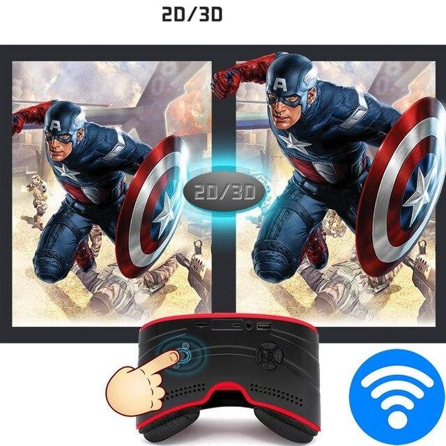 Glavey tout en un casque 3D VR box Android Allwinner A33 1 GB + 8G wifi Bluetooth HD affichage immersif 3D lunettes réalité virtuelle