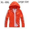 Мужские куртки удобрений a куртка с капюшоном водонепроницаемый осень 2016 ультра-тонких мужская ветровка большие дворы куртка XL-8XL ярдов