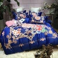 Новый богемный стиль набор пододеяльников для пуховых одеял набор 4 шт. Комплект постельного белья флисовая ткань постельное белье Комплек