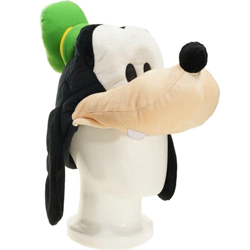 Cartoon Anime Plüsch Chef Gof Hund Mit Grünen Hut Winter Warm Hut Erwachsene Kinder Baby Film Nette Tiere Hund Weichen Cosplay Hut Caps