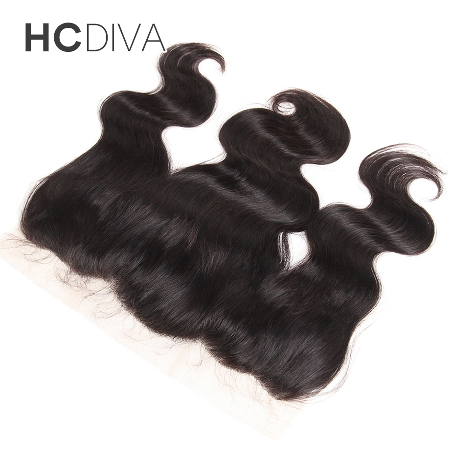 HCDIVA Hair Products Brazilian Non Remy Hair Natural Color 8″ to 18″ Body Wave 13×4 Lace Frontal 100% Human Hair Free Shipping